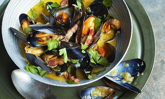 Tom's seasonal specials: Mussels cooked in ale and bacon