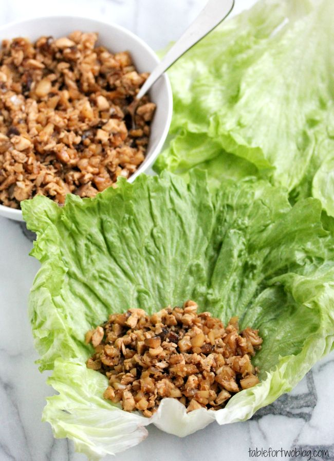 Take-Out, Fake-Out Chicken Lettuce Wraps. VSG, WLS, Bariatric, Paleo, Gluten-free, low carb, high protein.