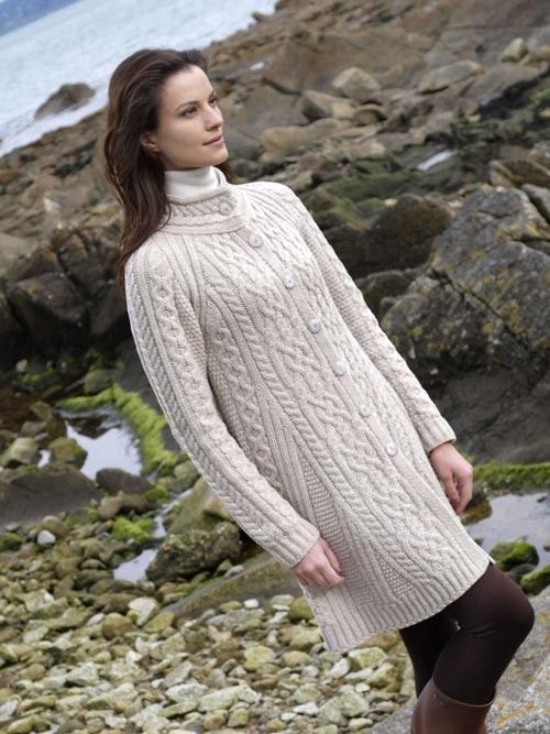 Irish Cable Knit Sweater Patterns : 5141 best images about Knitting on Pinterest