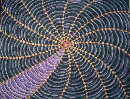 Purple cobweb