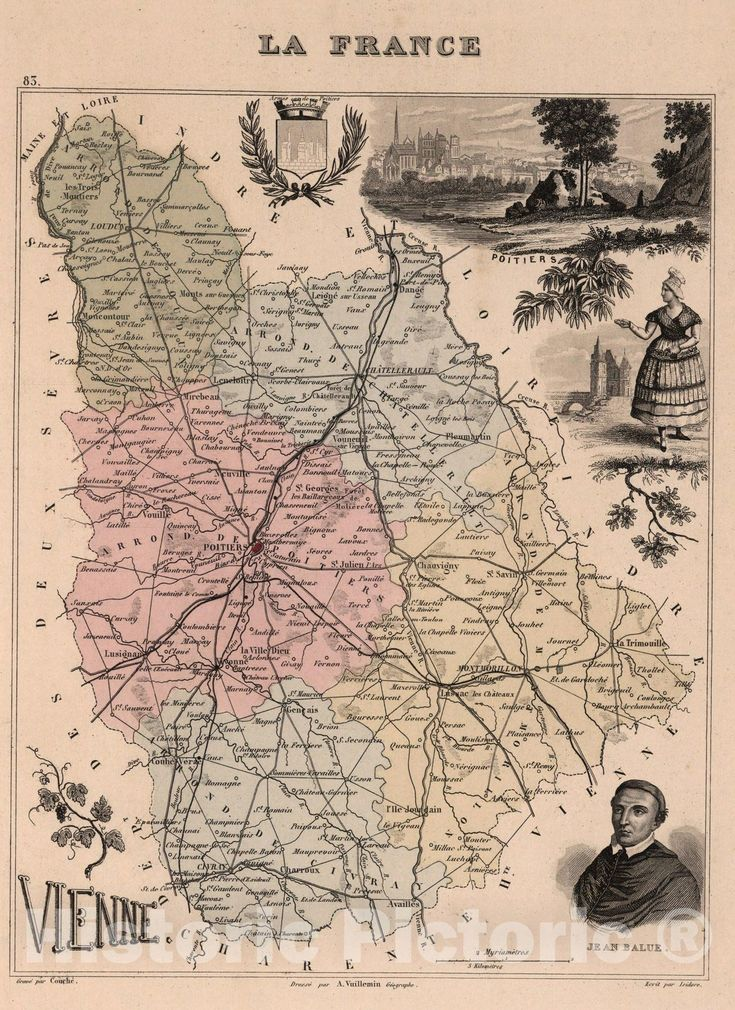 Historic Map Vienne 1869 Vintage Wall Art In 2021 Vintage Wall Art Art Vintage Walls