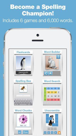 Bitsboard Spelling Bee er til at øve staveord. Man bruger boardene fra bitsboard. Appen er gratis.