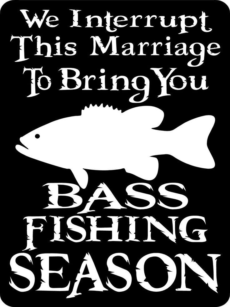 "BASS FISHING SIGN 9""x12"" Aluminum. $12.00, via Etsy."