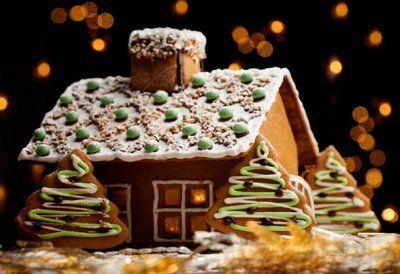 Имбирное печенье «Рождественская избушка» - оригинальная подача любимого всеми лакомства