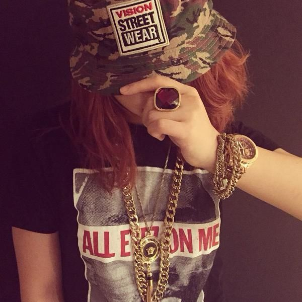 "Minzy's IG Update. ""All Eyez On Me  #VISION #STREET #WEAR #Beblessed"""