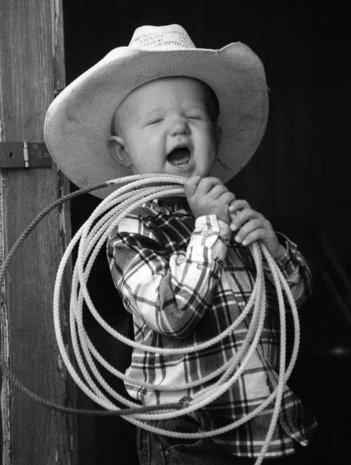 Handsome little cowboy