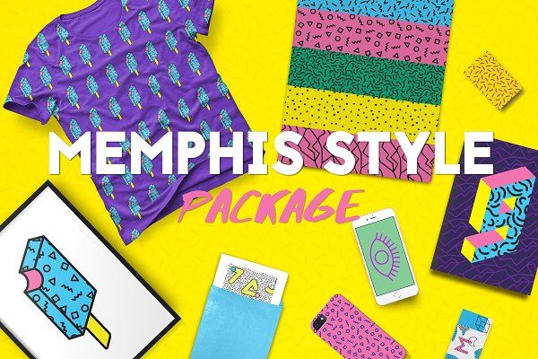 Memphis Style Package - Objects