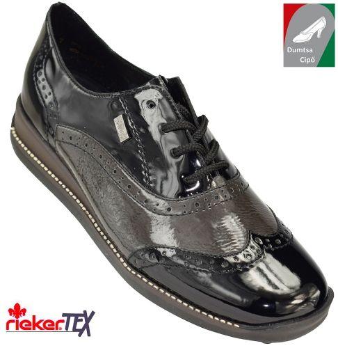 Rieker vízálló női cipő 44203-00 fekete kombi