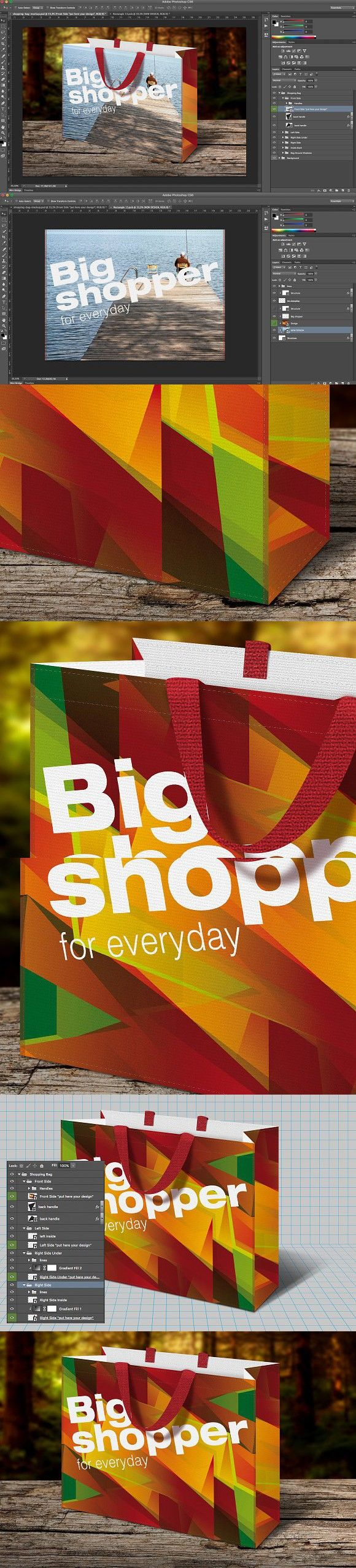 Shopping Bag Mockup Bag Mockup Bags Shopping Bag