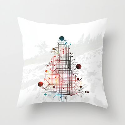 Christmas Tree Throw Pillow by ARCHIGRAF - $20.00