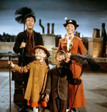 Mary Poppins - 1964 Dick Van Dyke, Karen Dotrice, Matthew Garber, Julie Andrews - Disney/Kobal/REX/Shutterstock