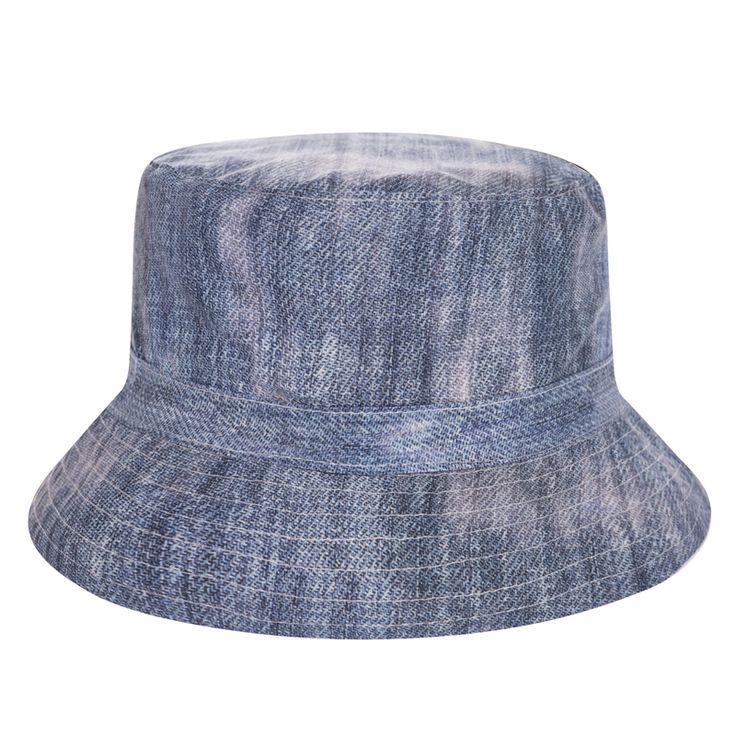 >> Click to Buy << New Jeans Style Flat Bucket Hat Men Women 3D Printed Bob Beach Hip Hop sombrero pescador Panama Girls #Affiliate