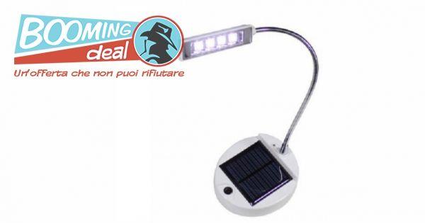 LAMPADA DA SCRIVANIA FLESSIBILE A LED A ENERGIA SOLARE