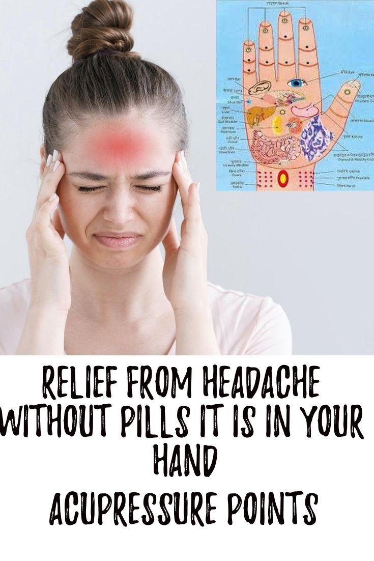 Acupressure For Headache | Acupressure, Acupressure points ...