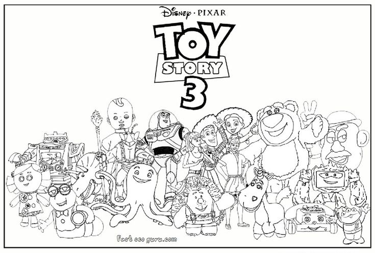 Toy Story 3 Aliens Coloring Pages