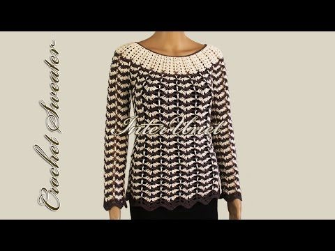 Lace blouse crochet pattern – crochet summer top - YouTube
