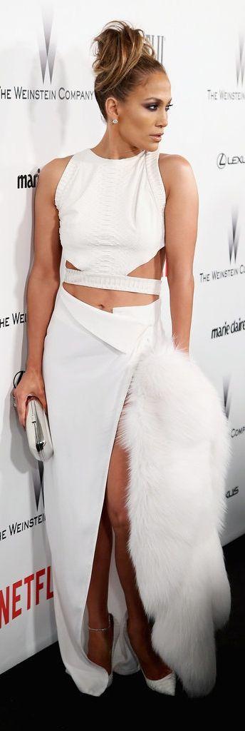 Jennifer Lopez's Golden Globes after party look.