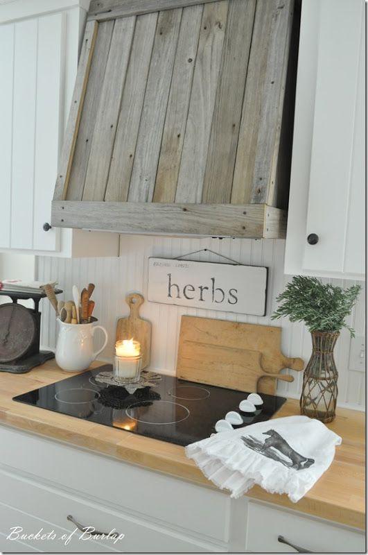 DIY Rustic Reclaimed Wood Vent Cover...love!! Buckets of Burlap #rustic #reclaimed #farmhouse