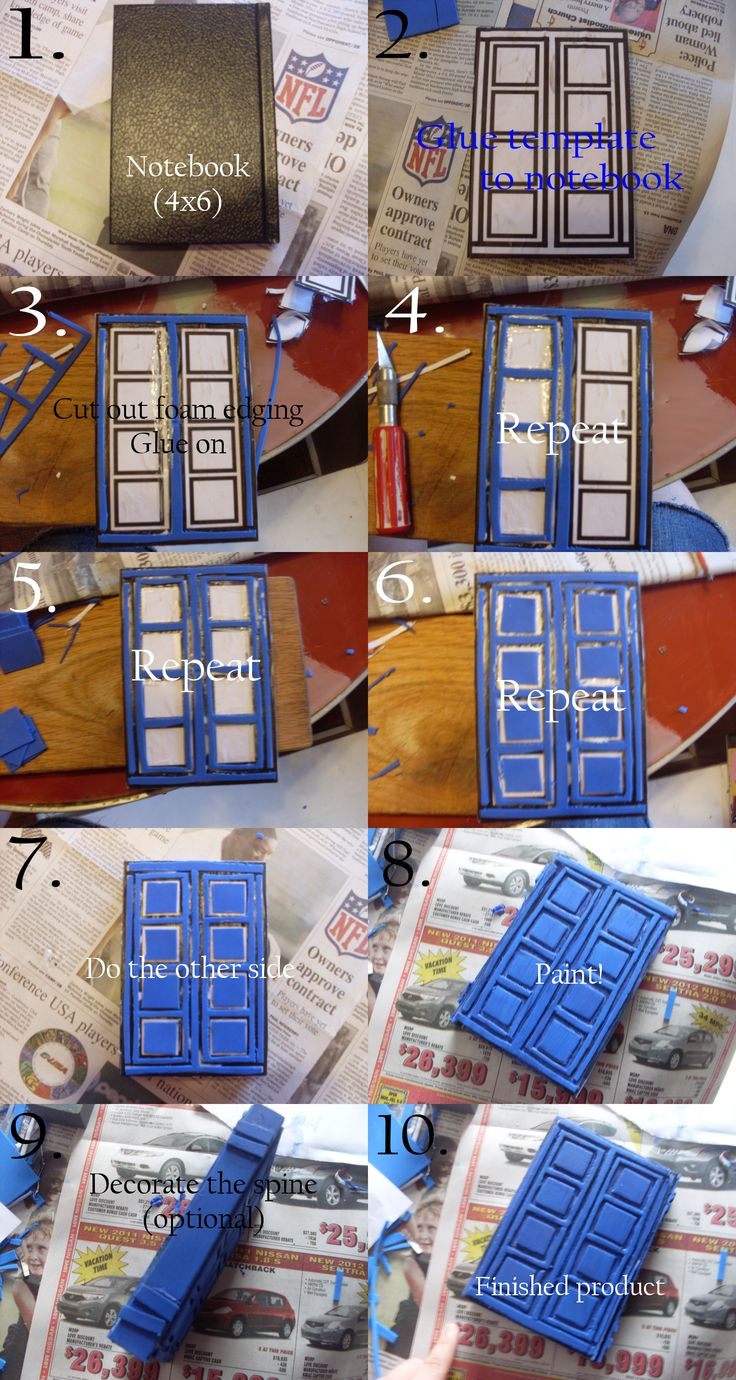 Tutorial: TARDIS journal by katien22.deviantart.com