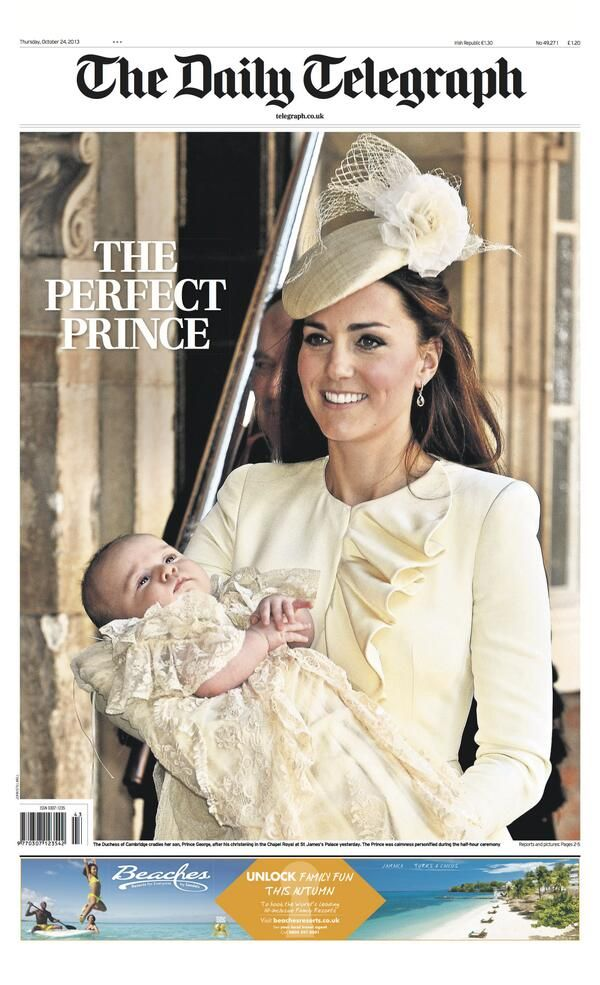 I love how her suit matches his christening gown. And how happy they all looked. Perfect!