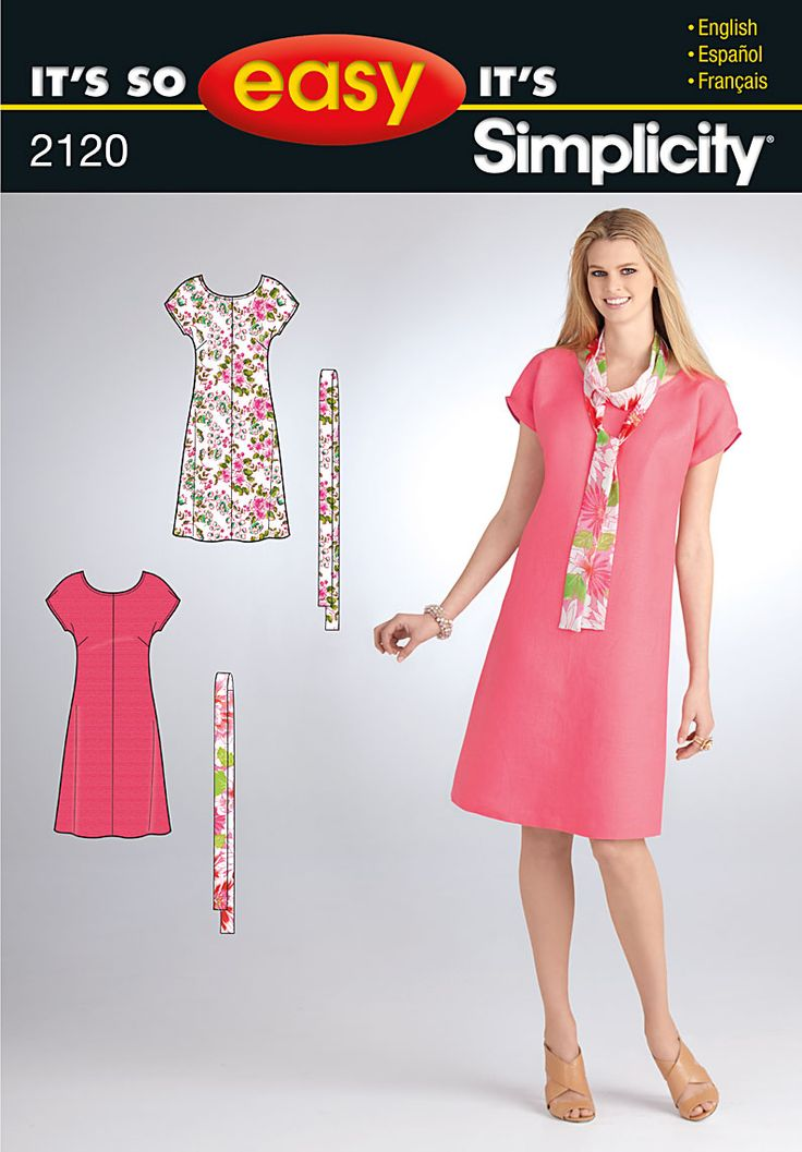It's so Easy Simplicity 2120  http://sewing.patternreview.com/patterns/19061