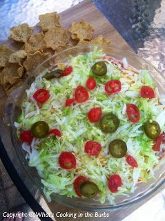What's cooking in the burbs: Skinny Taco Dip -- 1 point per serving... makes 12 servings.