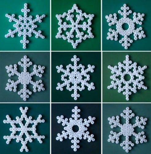 Snefnug af perler