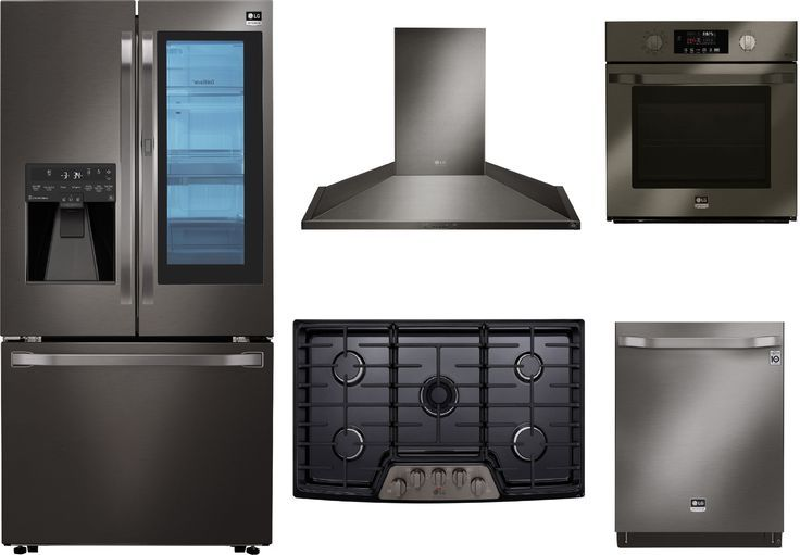 Lg Studio 5 Piece Kitchen Appliances Package With French Door Refrigerator And Dishwasher In Black Stainless Steel Black Stainless Steel Lgstudrecohowodw001