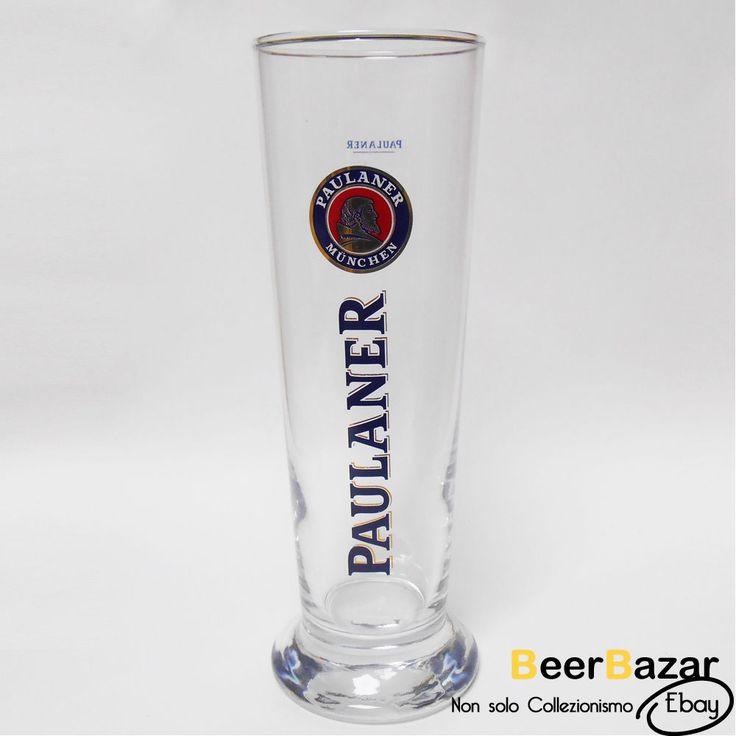 € 2,99 Bicchiere Birra Paulaner 20 Cl vetro collezionismo birrario bar pub Oktoberfest