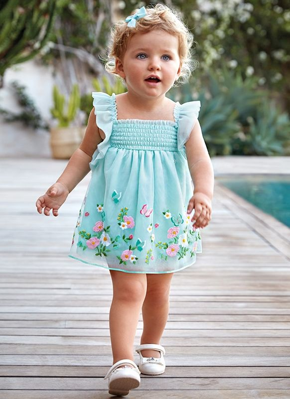 2400dced9ec Mayoral Kids - Toddler Girl Embroidered Tulle Dress | Avery Claire ...