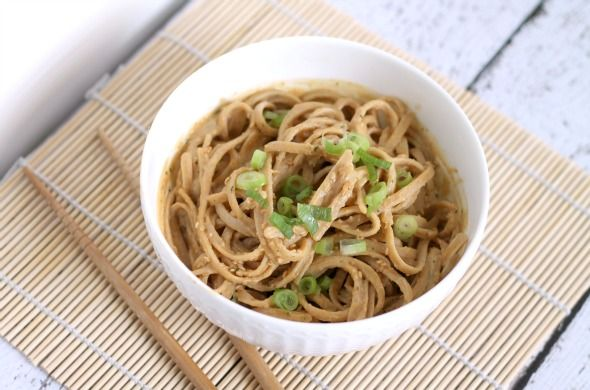 This Gal Cooks: Thai Peanut Sauce with Whole Wheat Noodles  @This Gal Cooks