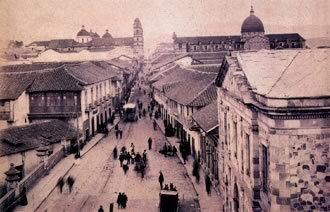 1890, La Calle Real - Bogotá, Colombia