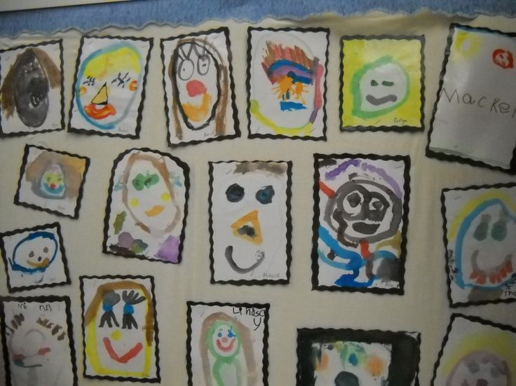 Water Color Self Portraits-love the way these the curvy cut around outside :-)