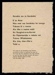 Image result for maori karakias