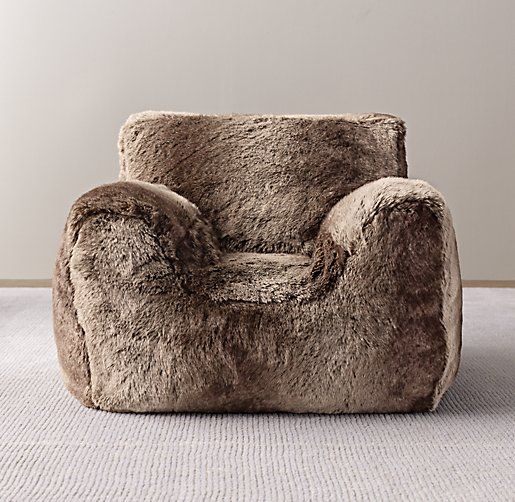Toddler Bean Bag Chair Cover from Restoration Hardware Colour: Mink