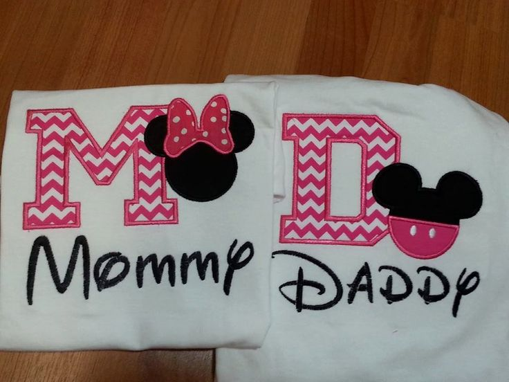 Mommy and Daddy Pink  Mickey and Minnie inspired by playpatch, $56.00