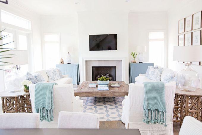 serene living room | Burrow Interior Design #nails #followback #nailart