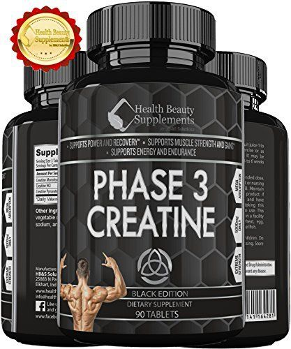 Product review for * MUSCLE PHASE ANABOLIC MONOHYDRATE CREATINE BLACK EDITION *Best Lab Tested Creatine - Phase 3 Creatine - Monohydrate Powder - HCI & Pyruvate - Extreme Bodybuilding Pills Capsules - By Muscle Phase -  THE MOST ADVANCED CREATINE SUPPLEMENT EVER MADE! STOP YOUR SEARCH NOW!  We have the Best, ULTRA POTENT, LAB TESTED, and researched CREATINE MUSCLE BUILDER on the market – PERIOD! *Our ultra advanced master blend of 3 forms of creatine will give you up t