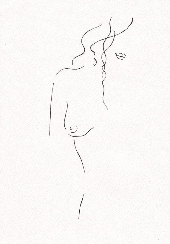 line drawing of nude