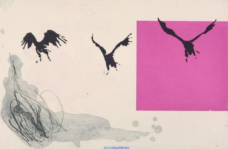 Kjell Nupen/Herbarium - flyvende. Dyptrykk. (Norwegian)