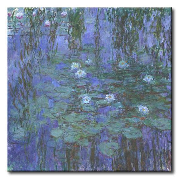 MU_MN2003 _ t_Monet _ Blue Water lilies / Cuadro Flores, lirios de agua azul