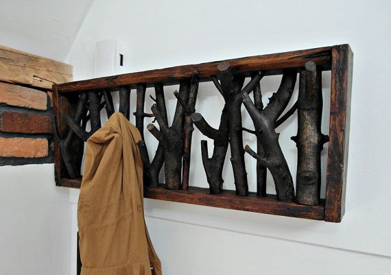 A solid and soulful piece of organic WALL MOUNTED WOOD COAT CLOTHES HANGER that has been lovingly handcrafted using the finest reclaimed materials.