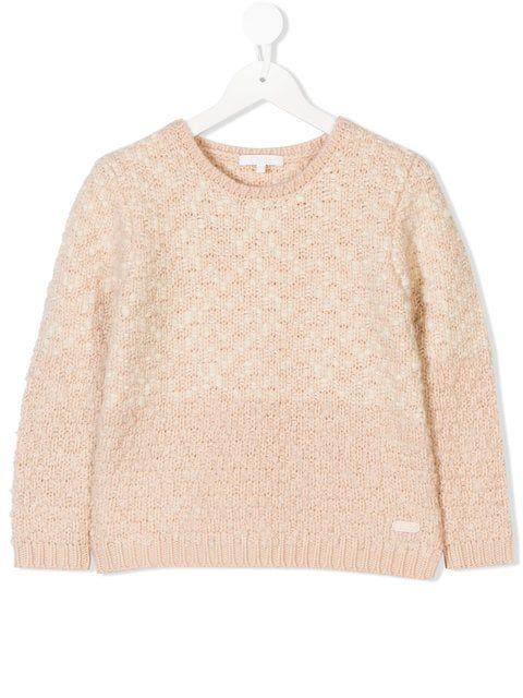 7ce54e9552a Chloé Kids Chunky Knit Jumper   For MOMS: Luxe Baby/Kids Nursery ...