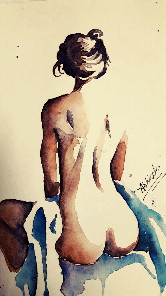 nude minimalistic watercolor