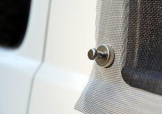VanEssa Mobilcamping - Camping Ausbau für Deinen Van - T5, T6, Mercedes u.v.m.-Effektive und einfache Fahrzeugbelüftung mit Fliegengitter und Magneten