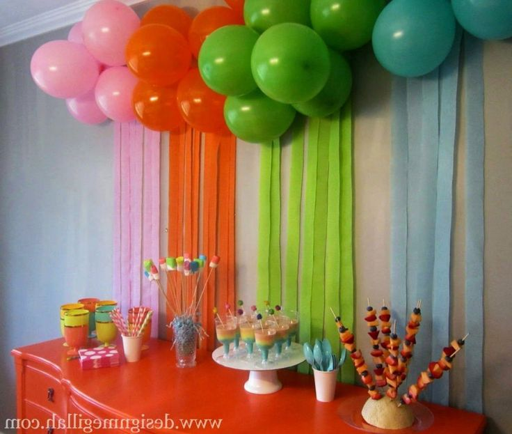 91 Birthday Decorations To Make At Home Best 25 Kids Birthday