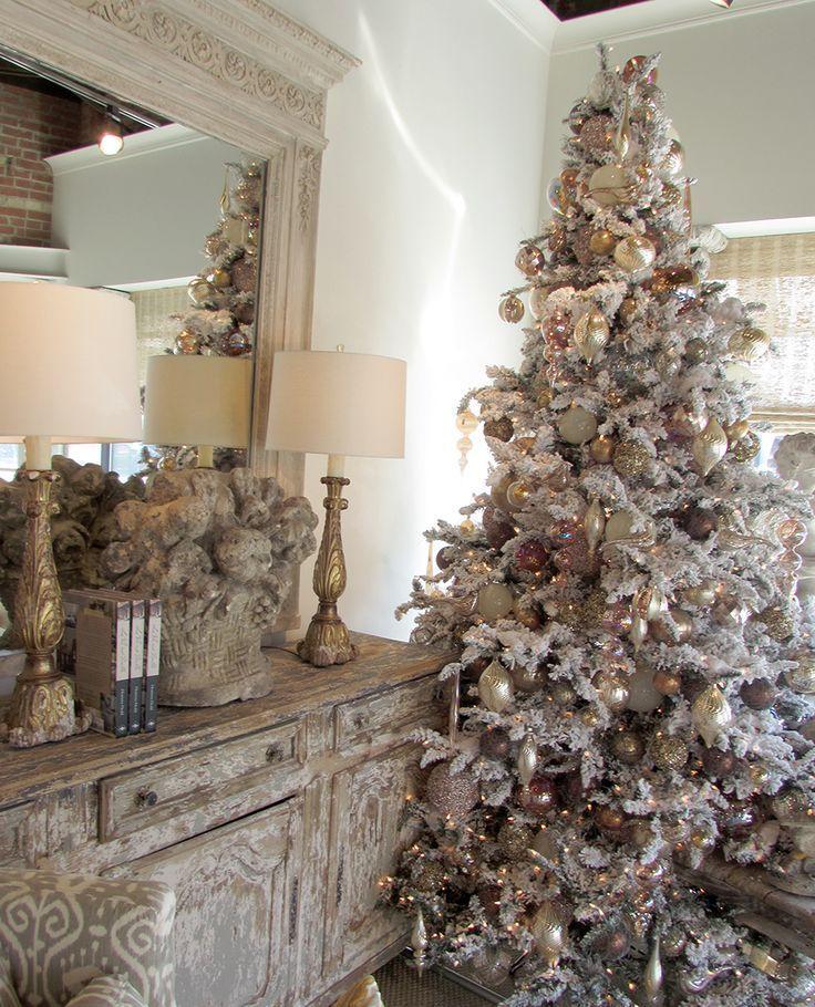 Beautiful White Flocked Christmas Tree 20 Awesome