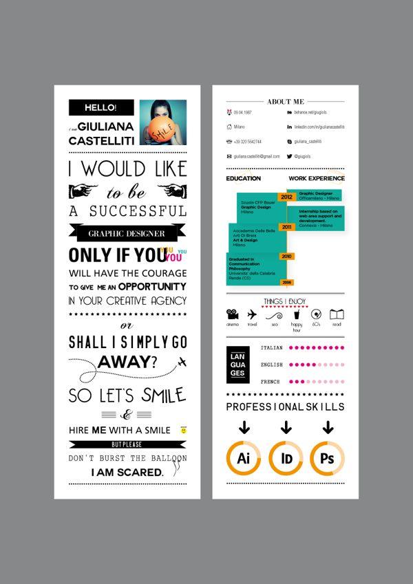 136 best Empleo 20 CV images on Pinterest Resume design - Unique Resume Designs