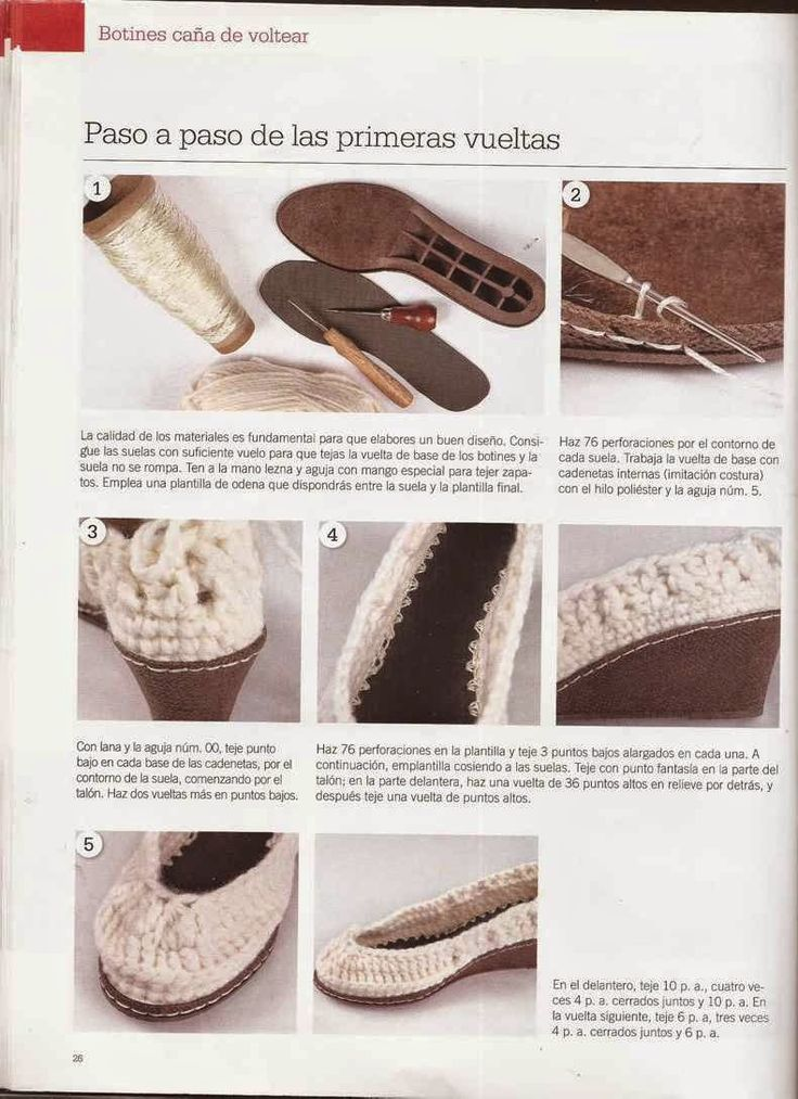 316 best Medias,botas y zapatos images on Pinterest | Crochet shoes ...