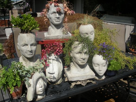 Concrete Pothead Planters Group